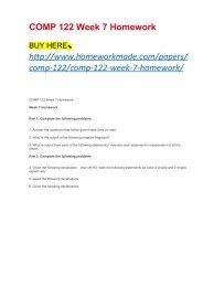 comp122 week 7 homework
