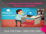 Fix Windows Error Code 0xc0000005 Dial 18002201041