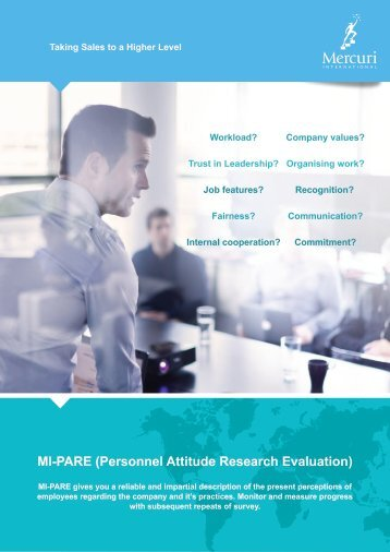 MI-PARE (PERSONNEL ATTITUDE RESEARCH EVALUATION)