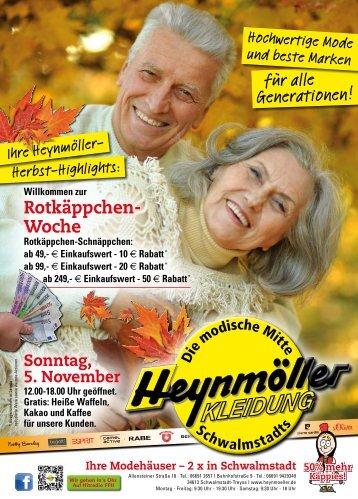 Rotkäppchen-Woche bei Heynmöller Kleidung