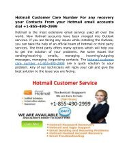 hotmail-customer-care-number +1-855-490-2999 USA