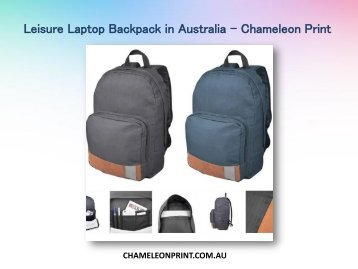 Leisure Laptop Backpack in Australia - Chameleon Print
