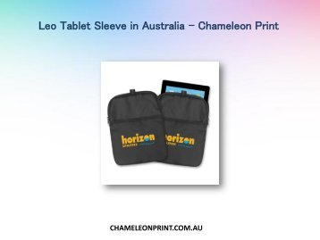Leo Tablet Sleeve in Australia - Chameleon Print