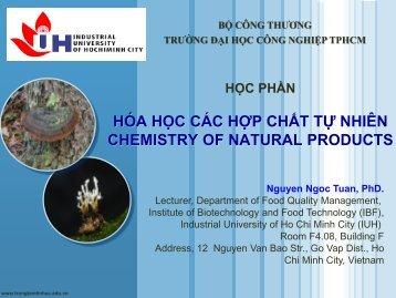 HÓA HỌC CÁC HỢP CHẤT TỰ NHIÊN NGUYEN NGOC TUAN PhD.