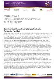 2017-10-25 Zeigt her Eure Reiter….Internationales Festhallen Reitturnier Frankfurt