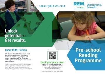 Adelaide Tri-fold Brochure Designer : REM+ Tuition