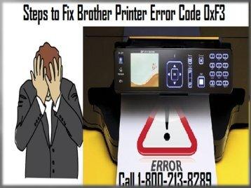 Brother Printer Error Code 0xF3