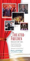 Theater-Freuden Spielzeit 2017/2018