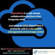 SharePoint Customer Contact Data