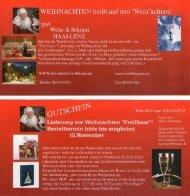 Flyer-Angebot Weihnachten