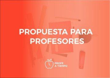 Propuesta para profes