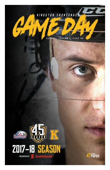 Kingston Frontenacs GameDay October 29, 2017