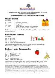 Trinken nicht vergessen - AWO Pflege Schleswig-Holstein gGmbH