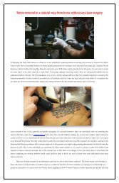 Tattoo removal in a natural way from home without any laser surgery