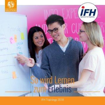 So wird Lernen zum Erlebnis - IFH Trainings 2018