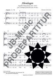 Abendsegen (für Gemischten Chor SAM) in D-Dur oder C-Dur