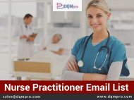 Nurse Practitioners Email List | Accurate Addresses, Phones and Emails
