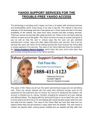 Dial Yahoo Customer Support Help Number