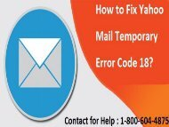 18006044875 How To Fix Yahoo Mail Error Code 18?