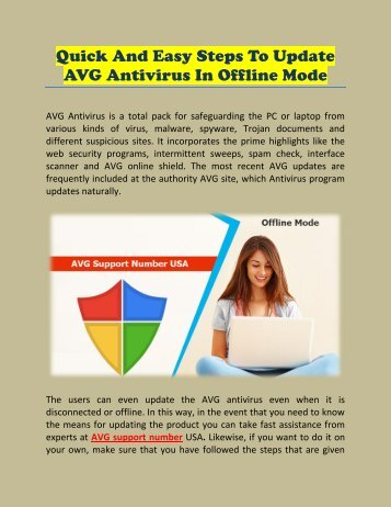Quick and Easy Steps to Update AVG Antivirus in Offline Mode