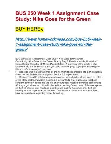 case study on nike marketing Chapter 1 case study analysis of nike topics: marketing essay on case study on nike (marketing.