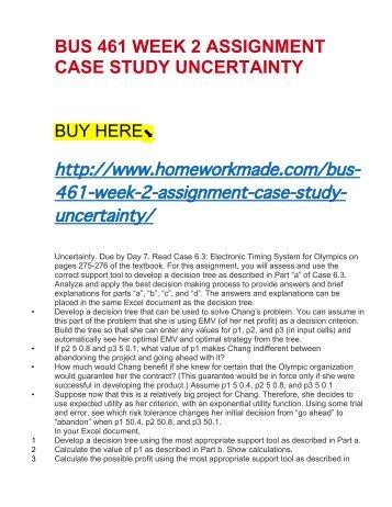 BUS 520 week 7 assignment 3 (Strayer)