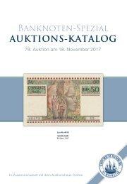 79. Auktion - Banknoten-Spezial  - Emporium Hamburg