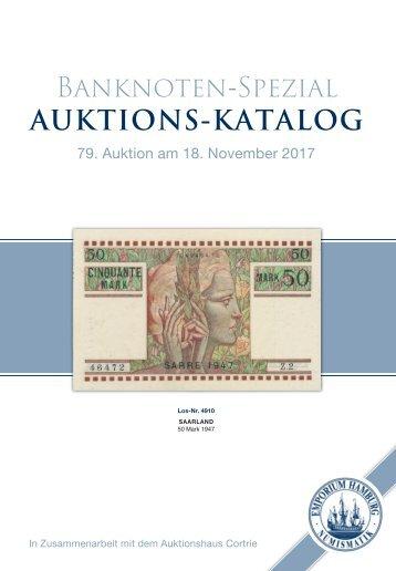 Auktionskatalog 79 - Banknoten Spezial  - Emporium Hamburg