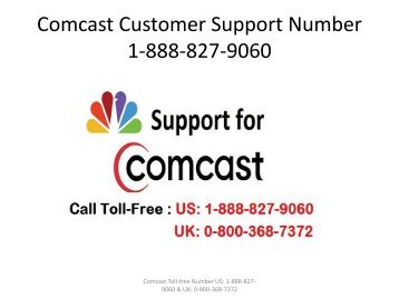 Comcast Support Toll- free Number 1-888-827-9060