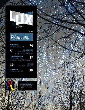 LUX 287 - LUX, la revue de l'éclairage (Juin 2016)