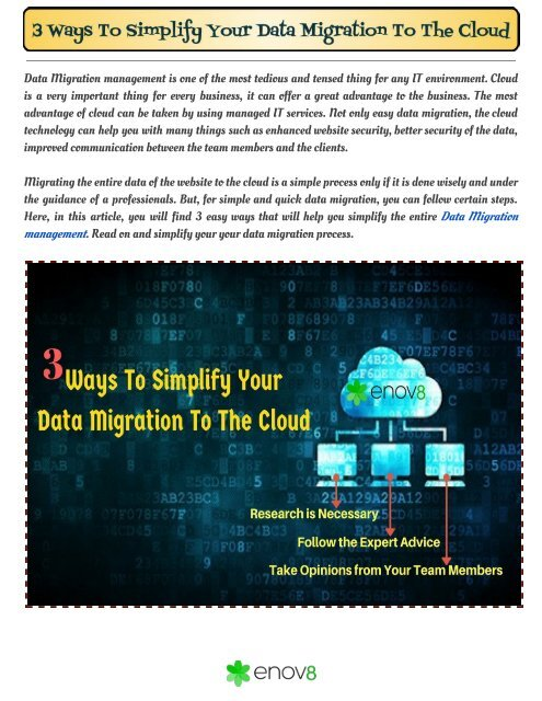 3 Ways To Simplify Your Data Migration To The Cloud