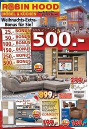 Robin Hood Möbel + Küchen - Weihnachts-Extra-Bonus für Sie!