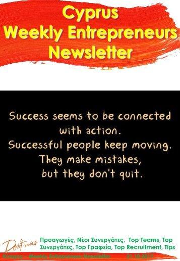 21102017 Cyprus Entrepreneurs Weekly Newsletter