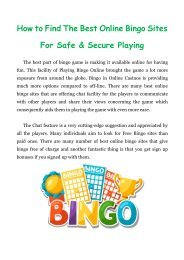 How to Find The Best Online Bingo Sites For Safe & Secure Playing?