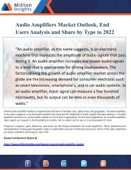 Audio Amplifiers Market Outlook, End Users Analysis and Share by Type to 2022