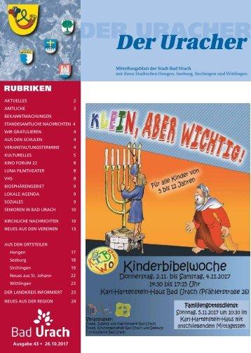 Der Uracher KW 43-2017
