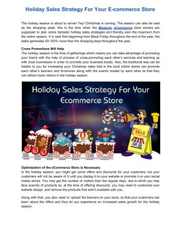 Holiday Sales Strategy For Your E-commerce Store