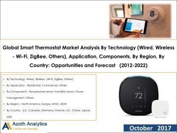 Global Smart Thermostat Market: Opportunities and Forecast (2012-2022)