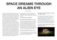 SPACE DREAMS THROUGH AN ALIEN EYE Dokumentation