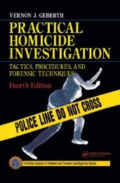 Practical Homicide Investigation - Tactics, Procedures and Forensic Techniques 4th Edition