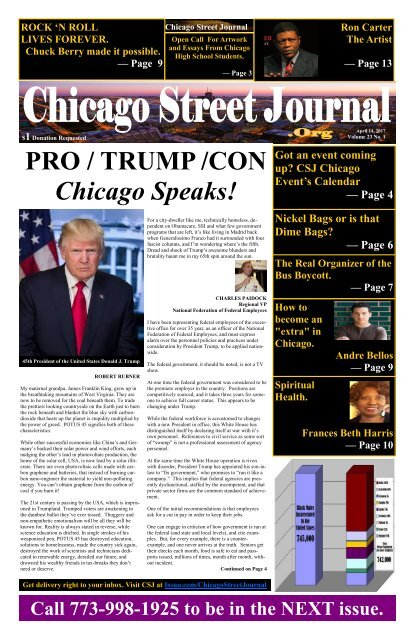 TRUMP - April 14, 2017 Edition of Chicago Street Journal