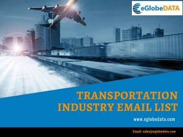 Transportation Industry Email List (1)