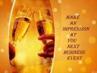 Make an Impression at You Next Business Event