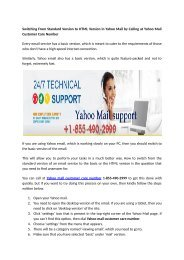 How to get backup your Yahoo email through 1-855-490-2999 toll free number