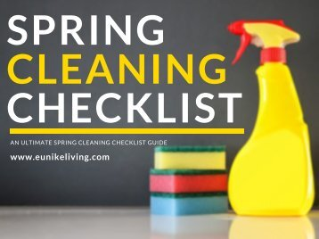 Spring Cleaning Checklist PDF By Eunike Living