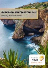 Katalog FABER-Erlebnisreisen 2018