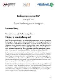 Fördern von Anfang an! - AWO Bezirksverband Niederrhein eV