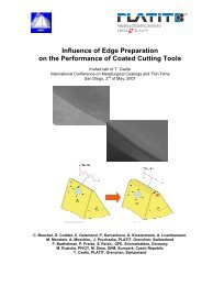 Influence of Edge Preparation on the Performance of Coated Cutting ...