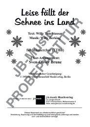Leise fällt der Schnee ins Land (für Männerchor TTBB)