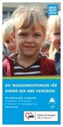 die tageseinrichtungen für kinder der awo heinsberg